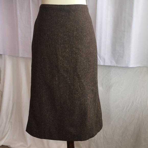 Rena Lange Dresses & Skirts - Rena Lange Brown Tweed Skirt